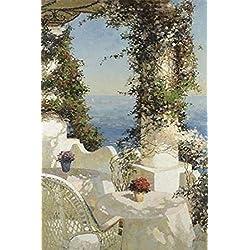 Positano Seascape Poster Print by Vitali (24 x 36)