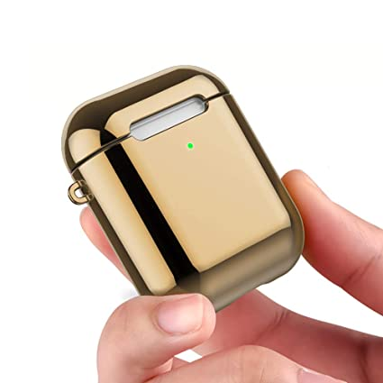 d8f0a7993dd REFLYING Case Compatible for AirPods [1st and 2nd Gen], Soft TPU Plated Case
