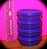 Tupperware Mini Snack Cups. Set of Four. Purple