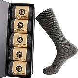 【強化版】靴下 メンズ ビジネス 男性 ソックス 弾力 耐久 防臭 吸汗 高級 綿 通気抜群 四季適用 出張 蒸れない 破れにくい 24-28㎝ 黒 リブ柄 ブラック