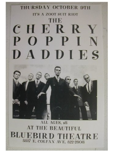 Cherry Poppin' Daddies Handbill Poster Band Shot Its a Zoot Suit Riot The Poppin Popping