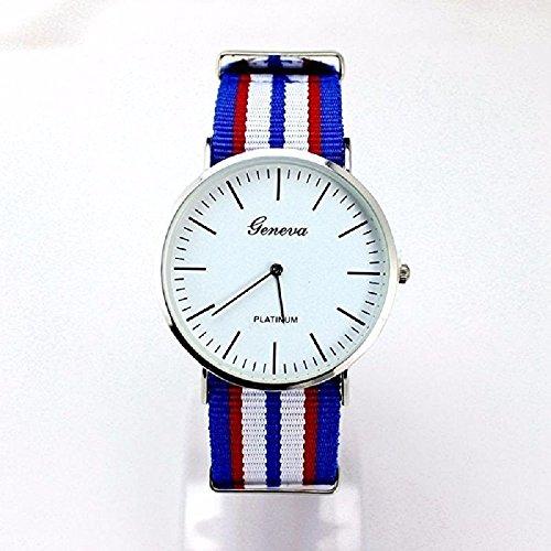 Ginebra azul/blanco Oxford Cambridge reloj | limpieza venta | la OTAN correa | Daniel Wellington, Casio | para hombre Mujer Unisex: Amazon.es: Relojes