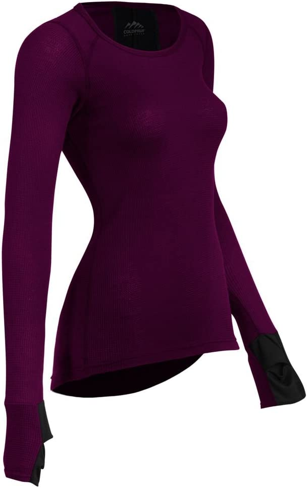 ColdPruf Womens Zephyr Performance Long Sleeve Crew Neck Baselayer Top,
