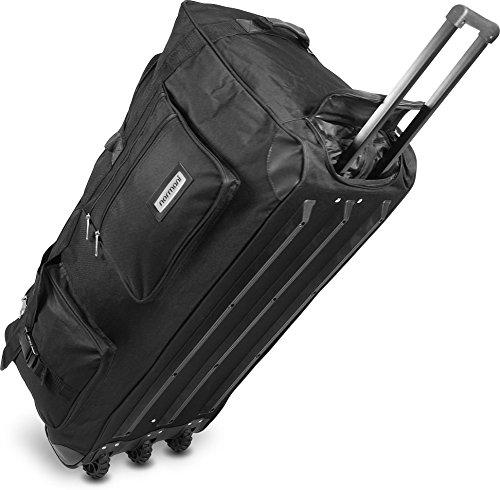 Leichte und Robuste Sport und Reisetasche mit tollem Design und Rollen Farbe Schwarz / 150 Liter