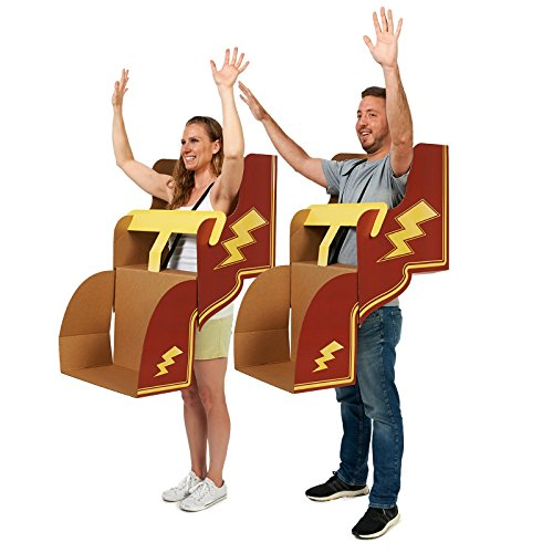 Adult DIY Roller Coaster Cardboard Costume Group of 6 Kit