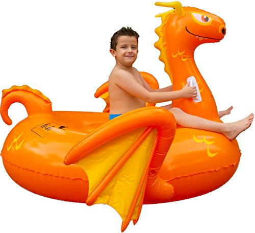 Floatie Kings Kids Dragon Party Pool Float - Premium Ride-on Inflatable