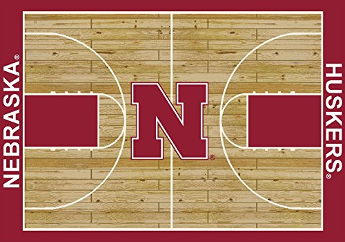 Milliken 4000053068 Nebraska College Home Court Area Rug, 10'9