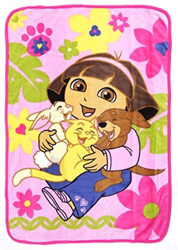 Dora Explorer Coral Toddler Blanket product image