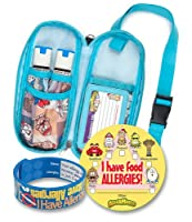 AllerMates 12425 Epi and Auvi Case with Wristband and 24 Stickers, Small
