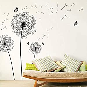 DIY home decor large dandelion wall sticker art decals PVC wall home decoration for living room