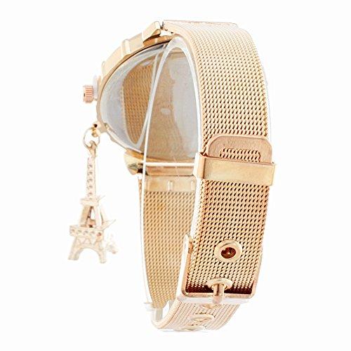 BLACK MAMUT Reloj Para Mujer de Extensible Color Plateado de Latón con Un  dije de Torre Eiffel Movimiento Cuarzo Diseño Casual (Oro Rosa)   Amazon.com.mx  ... 3afd734c0c30