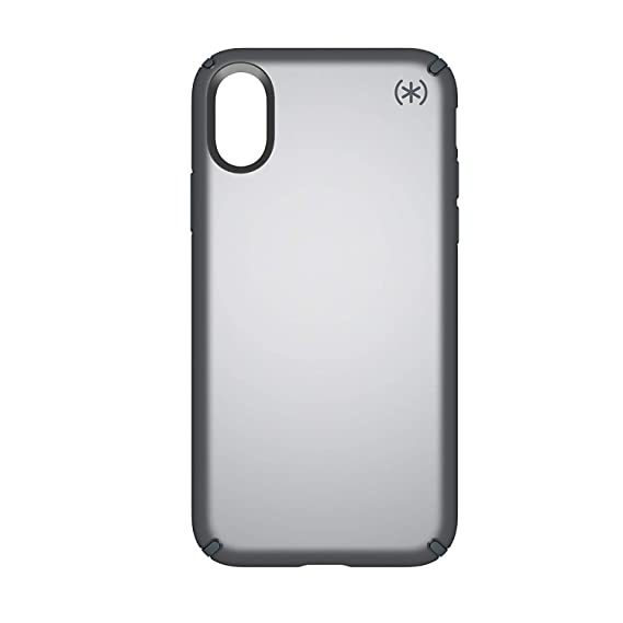 competitive price 0ade6 0ffaa Speck Products Presidio Metallic Case for iPhone XS/iPhone X, Tungsten Grey  Metallic/Stormy Grey