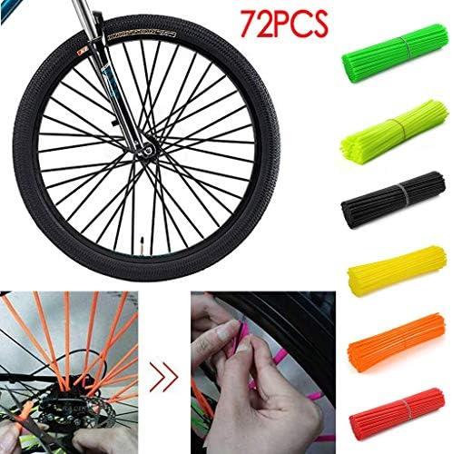 carol -1 Speichenhülle Speichensticks für Fahrrad Motorrad 72 tlg, Universal Speichencover Speichenröhre Wheel Spoke Tire Steel Wire Pipe Tube, Spoke Wraps Skins Lid Kit fit