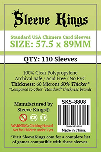 Sleeve Kings Standard USA Chimera Card Sleeves (57.5x89mm) - 110 Pack, 60 Microns