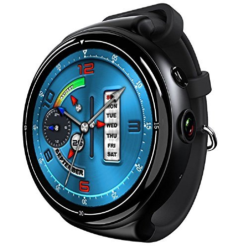 i4 AIR Android 5.1 OS Monitor Smart Watch Phone, Heart Rate, 2G+16G Camera WIFI GPS Smart Wristwatch for Android IOS (black)