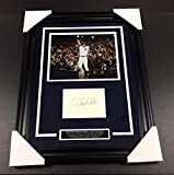 DEREK JETER AUTOGRAPHED BOOK WITH 8X10 PHOTO BAS COA FRAMED NEW YORK YANKEES