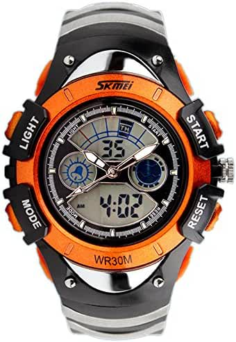 ALPS Watch Kids LED Digital Boys Girls Waterproof Watches (Orange)