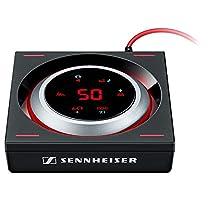 Sennheiser GSX 1200 Pro - Amplificador de audio para videojuegos, color negro y rojo