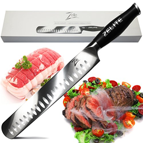 Zelite Infinity Slicing Carving Knife 12 Inch - Comfort-Pro Series - German High Carbon Stainless Steel - Razor Sharp, Granton Edge, Super Comfortable (Maximum Breast International)