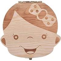 caixa de armazenamento de dentes de criança Caixa de armazenamento de dentes de criança de madeira Caixa de…
