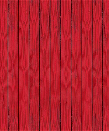Red Barn Siding Backdrop Party Accessory (1 count) - Barn Siding
