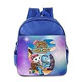 Toddler Kids Sheriff Callie's Wild West School Backpack Cartoon Children School Bag RoyalBlue
