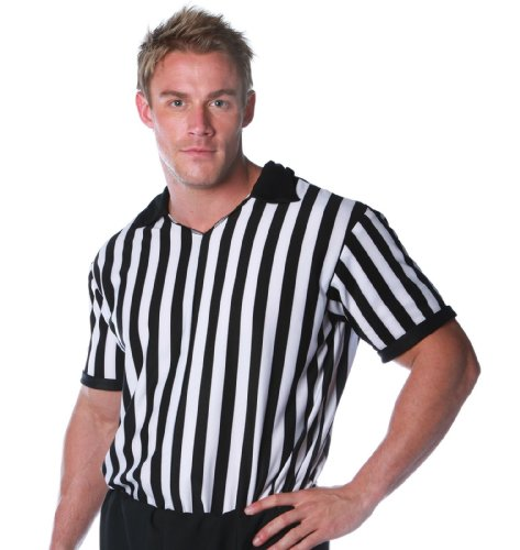 Underwraps Costumes Men's Referee Costume - Shirt, Black/White, XX-Large