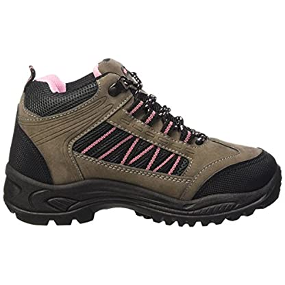 Dek Womens Hiking/Walking/Trekking Ankle Boots Grey/Pink 6