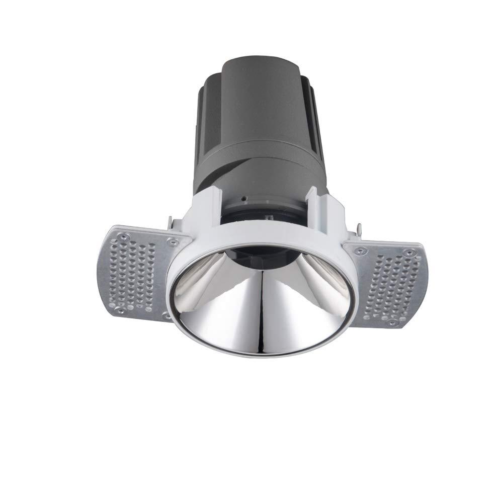 Modenny 8W12W15W Randloser Scheinwerfer Runde energiesparende LED eingebettet COB Unsichtbar Blendschutz Deckeneinbauleuchte Downlight Hochverdunkelnde Panel-Lampe (Farbe   Weiß Light, Größe   8w)
