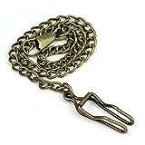 Wrisky New Bronze Alloy Chain For Antique Quartz Women Men Vintage Pocket Watch