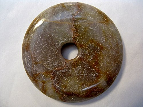 Natural mente–Donut Aventurine, env. 4cm, pendentif, beige marbre., pierres précieuses, collier, Semi, Aventurine Beige MARM., N ° 2