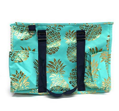N Gil All Purpose Organizer Medium Utility Tote Bag 2 (Pineapple Mint)