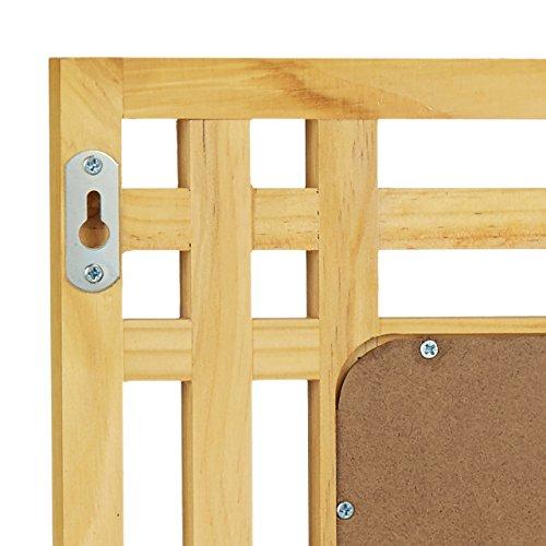 Surréaliste Relaxdays 10020483 Miroir en bois de pin fixation murale salle de HN-97