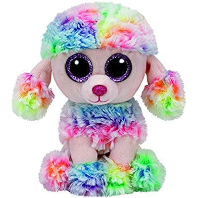 TamPa Plush Beanie Boos Rainbow Poodle Dog (Multicolor): Home & Kitchen