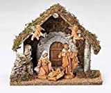 5pc Set 5'' Figurine Wedding Creche Nativity Fontanini By Roman
