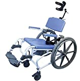 Tilt Shower Commode Bath Toilet wheelchair with 24'' wheels