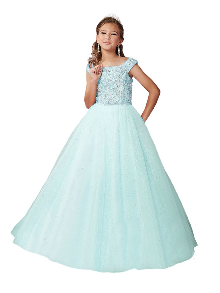 Yang New Flower Girl's Sequins Pink Ball Gowns Kids National Pageant Dresses 16