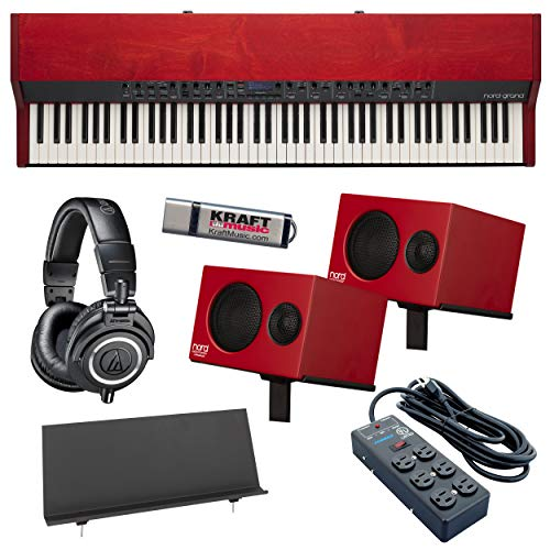 Nord Grand Stage Piano with Nord Piano Monitors, Music Rest, Headphones, Power Strip and Flashdrive