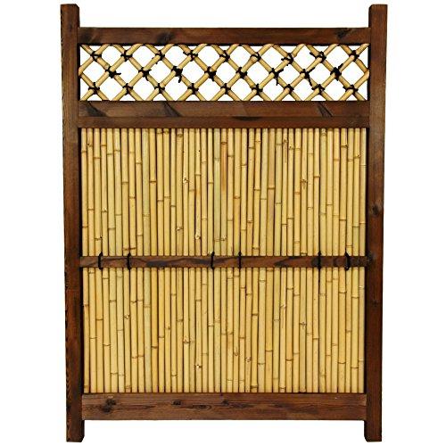 Zen Garden Fence - ORIENTAL FURNITURE 4 ft. x 3 ft. Japanese Bamboo Zen Garden Fence