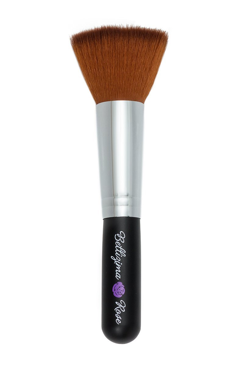 Mineral Foundation Brush Premium Flat Top Makeup Contours Loose Or Pressed Powders Best To Highlight Your
