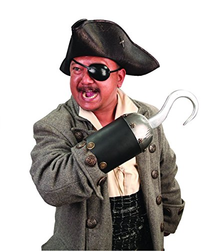 Pirate Hook Metal And Leather Captain Hook Costume Accessory (Captain Hook Adult Costume)