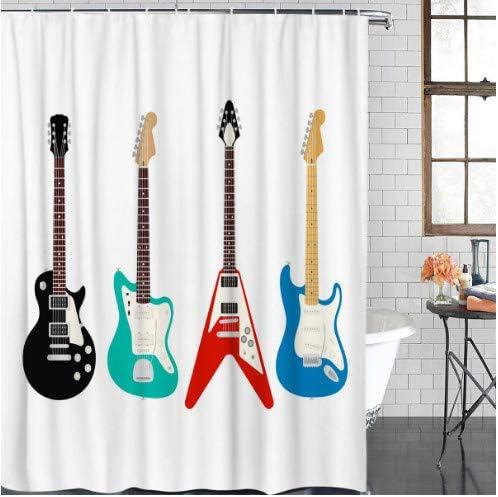 fptcustom Guitarra Seis Cuerdas Bajo Rojo Negro Azul Verde Jazz ...