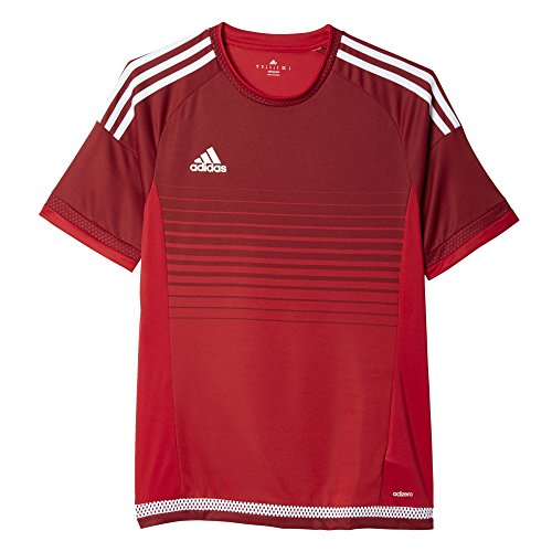 Adidas Mannen Campeon 15 Royal Blauw / Witte Trui Macht Rood-bordeaux-wit