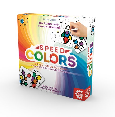 Spiele GAME FACTORY Speed Colors mult Gesellschaftsspiel malen basteln spielen Kinder