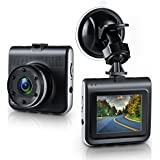 Dash Cam, Ezone Full HD 1080P DVR Dash Camera 170 Degree Wide Angle Dash Camcorder with Night Vision,G-Sensor,Loop Recording, 2.2 TFT Display