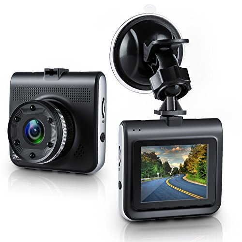 "Dash Cam, Ezone Full HD 1080P DVR Dash Camera 170 Degree Wide Angle Dash Camcorder with Night Vision,G-Sensor,Loop Recording, 2.2"" TFT Display"