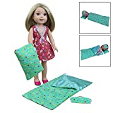 ZITA ELEMENT 3 Pcs Doll Accessories with Sleep Bag, Pillow & Eye Cover for 14 inch 14.5 inch American Girl Doll Wellie Wisher Dolls - by