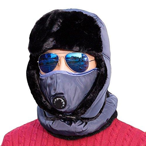 De Para Invierno Unisex Ushanka Bombero De Hombre Caliente Para A CamouflageBlue De Flap De Mujer Winter Patinaje Esquí Senderismo Gorro Para Unisex Prueba Esquí Viento Cubierta De Ear Sombrero ng1wx4g