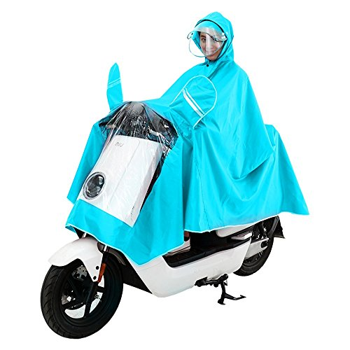 raincoat adult motorcycle hat raincoat increase double double cover women sided blue XXXXL poncho men Electric sky single poncho helmet RFVBNM and gAEtc