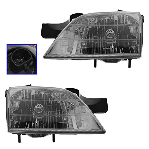 Headlights Headlamps Left & Right Pair Set for Chevy Venture Montana Silhouette